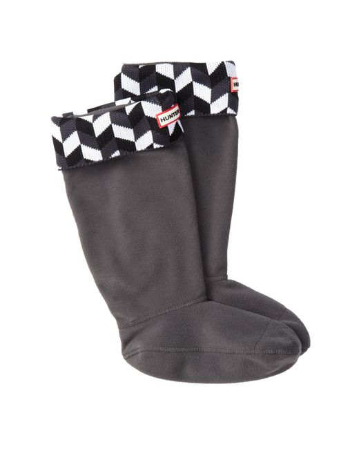 Hunter - Multicolor 'geometric Dazzle' Original Tall Fleece Welly Socks - Lyst
