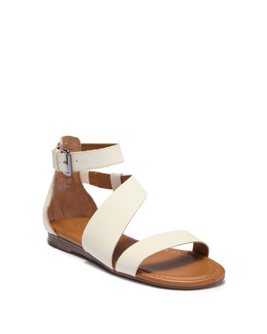 8f685ca1d8bd Franco Sarto - Brown Griffith Leather Sandal - Lyst ...