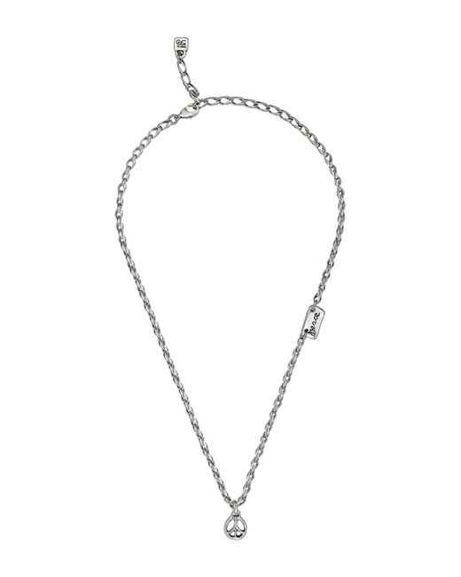Uno De 50 - Metallic Peace Sign Necklace - Lyst