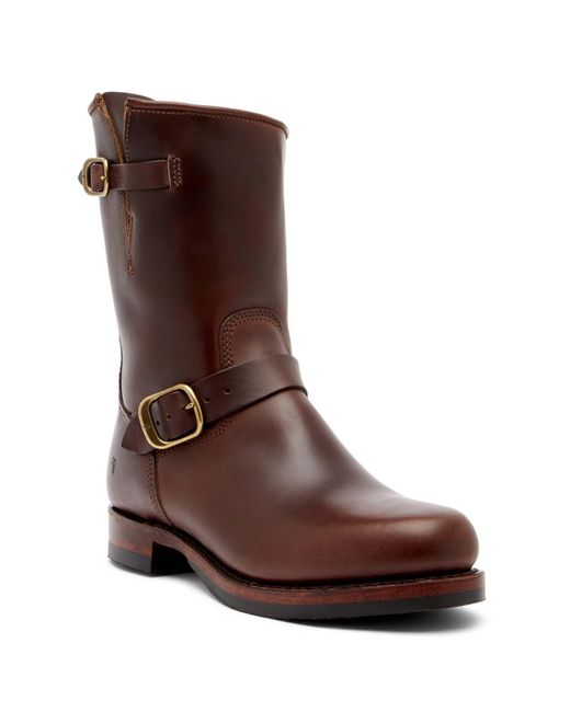 Frye | Brown John Addison Engineer Leather Boot for Men | Lyst