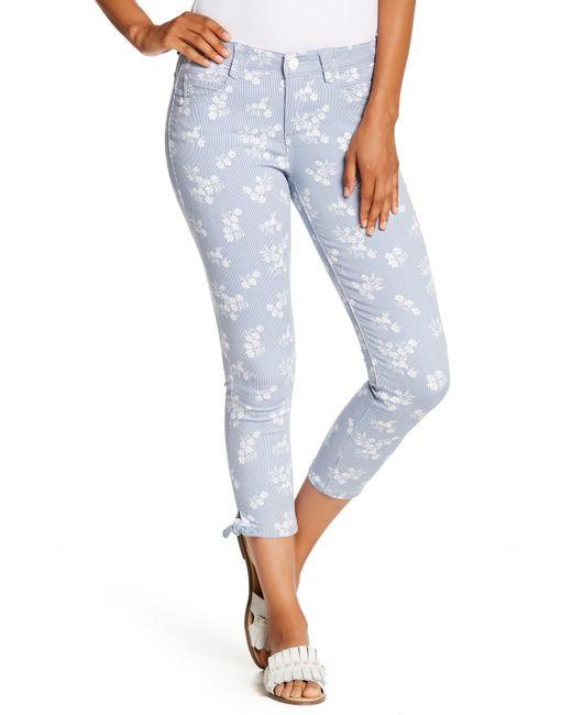 Democracy - Blue Ab Tech Croped Printed Skinny Pants - Lyst