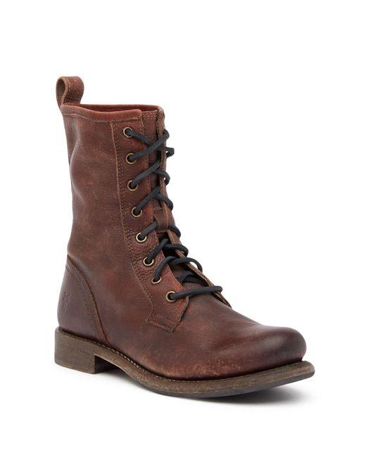 Frye | Brown Jenna Combat Boot for Men | Lyst