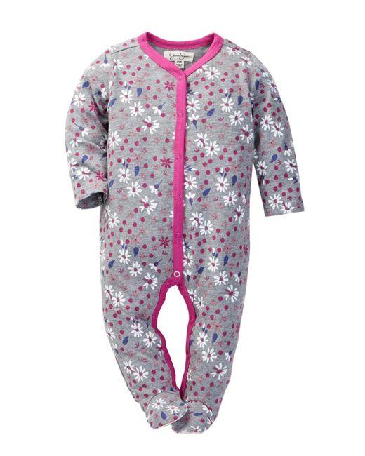 Lyst Jessica Simpson Printed Footie Baby Girls In Blue