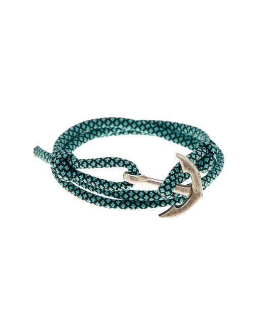 Link Up - Blue Teal Nylon Paracord Anchor Wrap Bracelet - Lyst