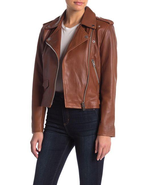 W118 by Walter Baker - Multicolor Liz Lamb Leather Jacket - Lyst