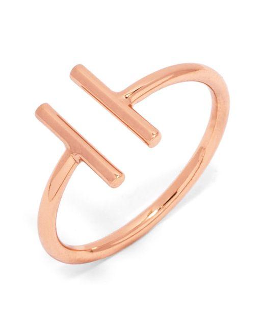 BaubleBar | Metallic Parallel Bar Open Ring - Size 2 | Lyst