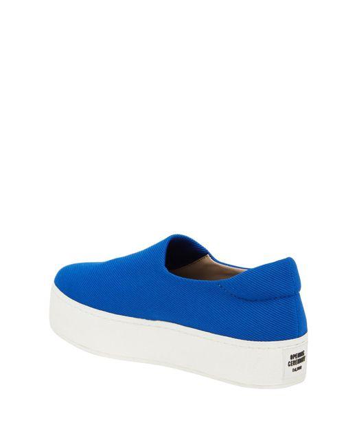 Opening Ceremony - Blue Grunge Slip-on Platform Sneaker - Lyst