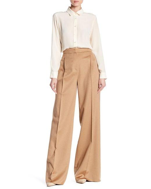 Max Mara - Natural Emma Genuine Camel Hair Trousers - Lyst