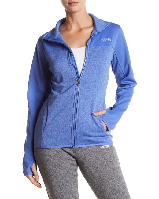 The North Face | Blue Amazie Mays Front Zip Jacket | Lyst