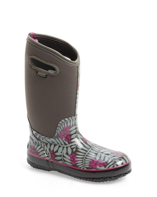 Bogs   Gray Winterberry Waterproof Snow Boot With Cutout Handles   Lyst