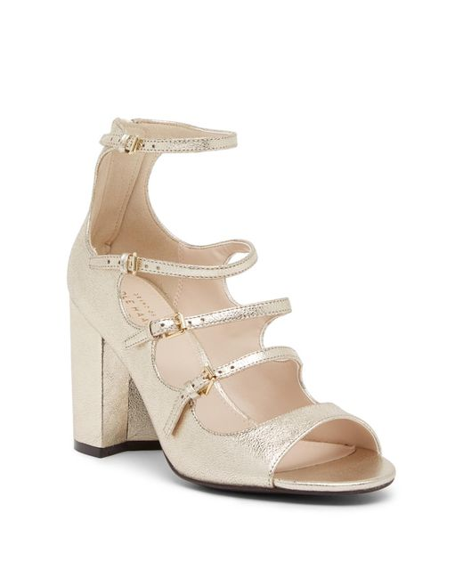 Cole Haan - Natural Cielo High Dress Leather Sandal - Lyst