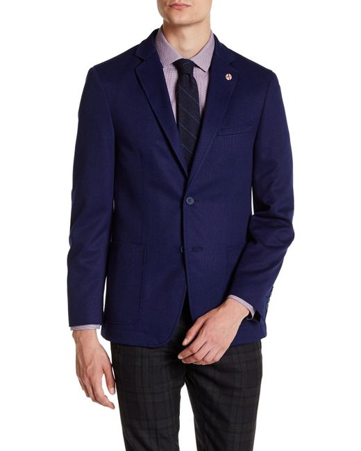 Ben Sherman   Blue Birdseye Two Button Notch Lapel Sports Coat for Men   Lyst