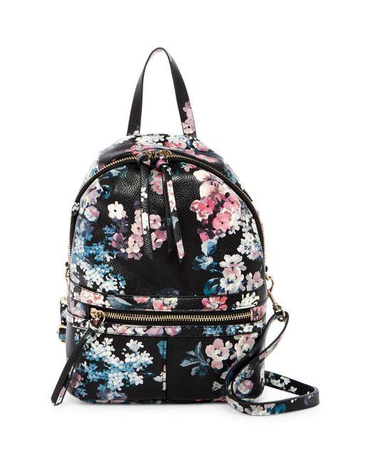 T-Shirt & Jeans   Black Mini Pretty Punk Floral Print Backpack   Lyst
