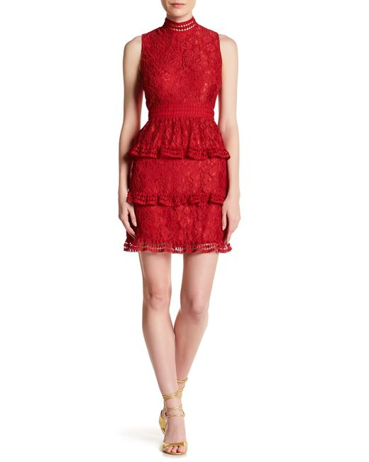 Cece by Cynthia Steffe   Red Brea Floral Lace Dress   Lyst