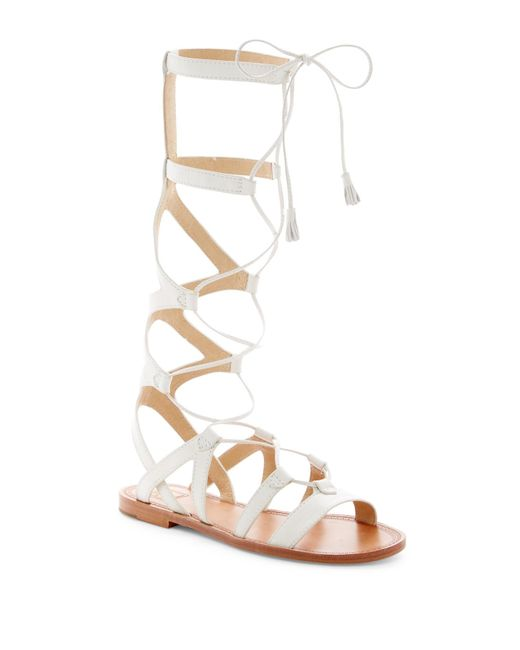 Frye | White Ruth Gladiator Tall Sandal | Lyst