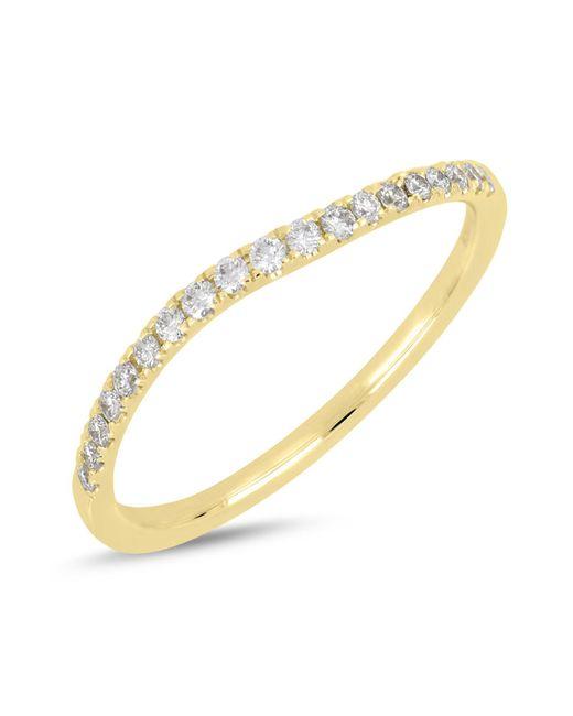 Bony Levy - Metallic 18k Yellow Gold Diamond Detail Wavy Ring - 0.17 Ctw - Lyst