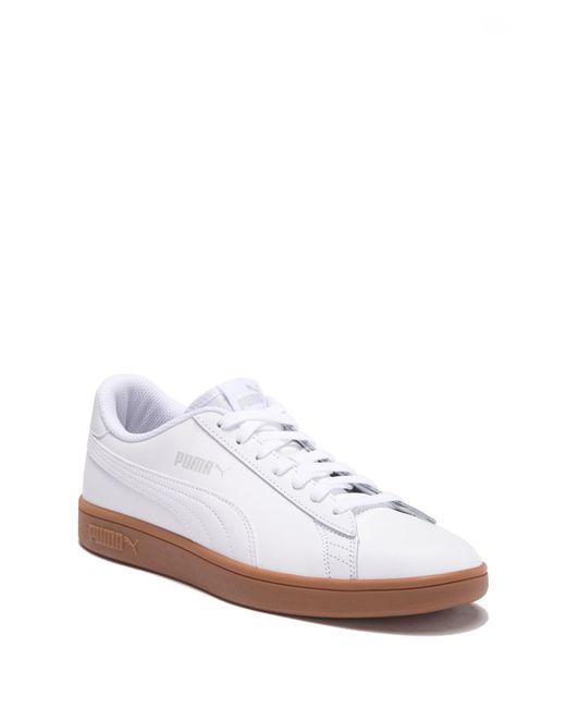 PUMA - White Smash V2 Leather Sneaker for Men - Lyst ... 5f17a0cdc