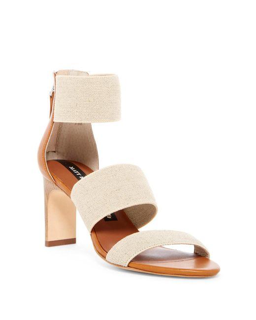 Matt Bernson | Brown Zinnia Strappy Stiletto Sandal | Lyst