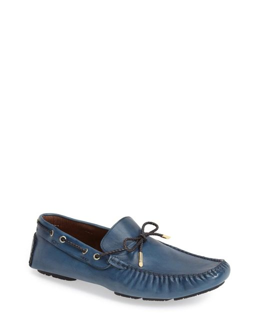 Bacco Bucci | Blue Istria Driving Loafer for Men | Lyst