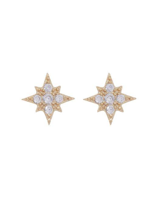 Shashi | Metallic Eliza Burst Pave Cz Stud Earrings | Lyst