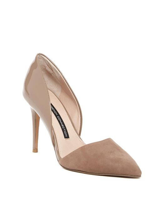 French Connection - Natural Elvia D'orsay Pump - Lyst
