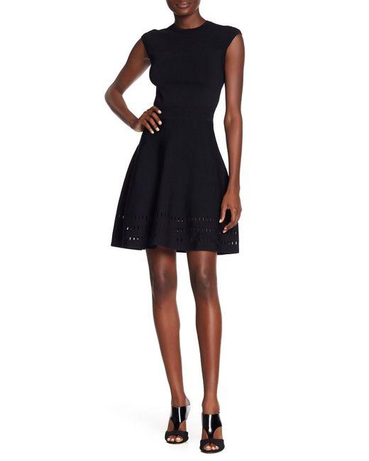 Ted Baker - Black Aurbray Knit Skater Dress - Lyst