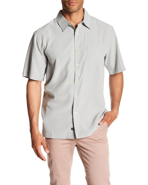 Quiksilver - Gray Cane Island Short Sleeve Comfort Fit Shirt for Men - Lyst