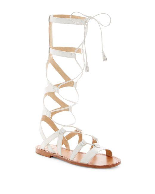 Frye | White Ruth Gladiator Tall Sandal | Lyst