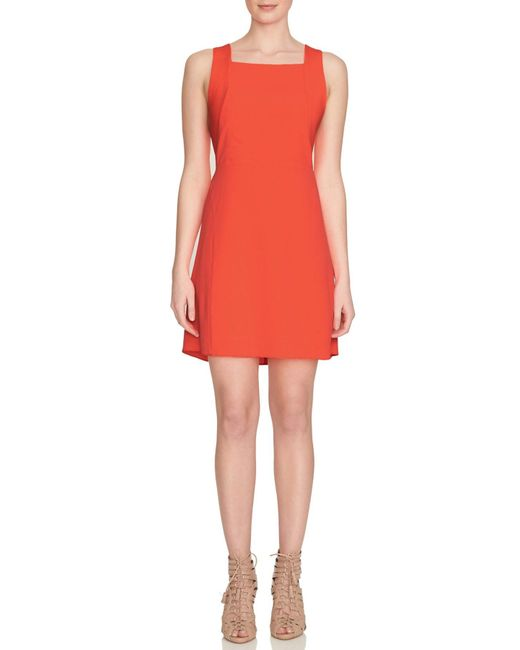 1.STATE - Red Racerback Shift Dress - Lyst