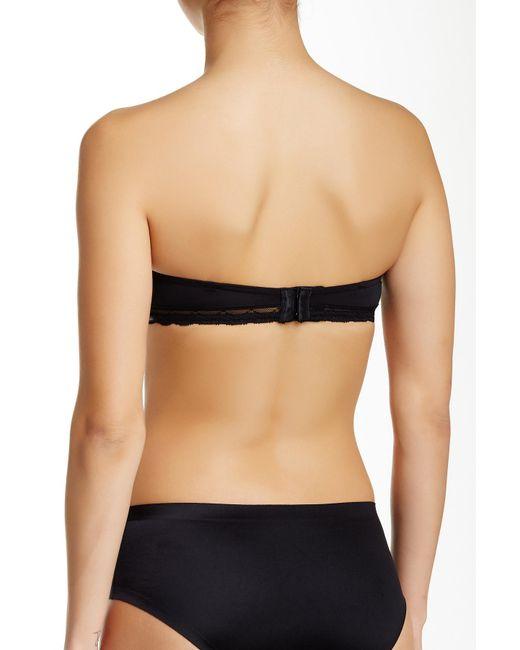 f91228d5f99f2 ... Calvin Klein - Black Allure Strapless Push-up Bra - Lyst ...