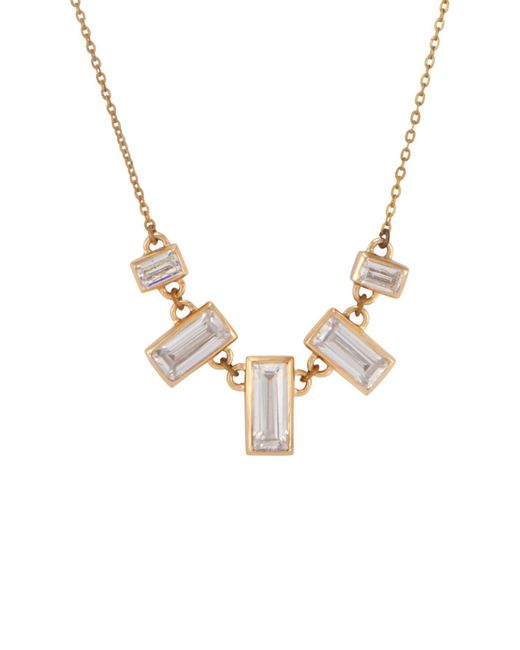 Melinda Maria - Metallic Emily Baguette Cz Pendant Necklace - Lyst