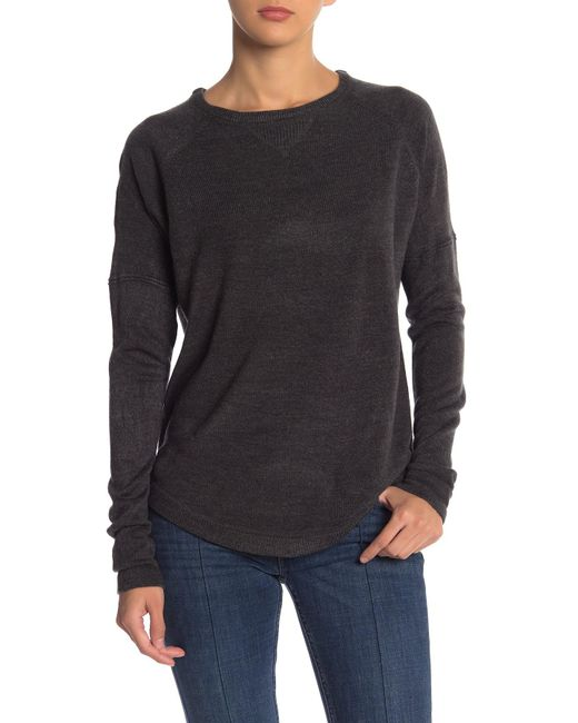 Sweet Romeo - Gray Solid Raglan Sweater - Lyst