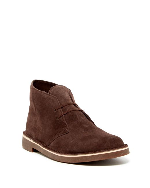 clarks bushacre suede chukka boot in brown for lyst