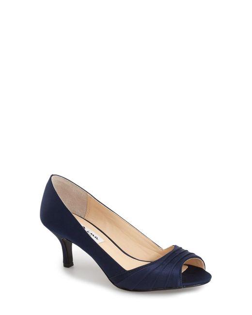 Nina - Blue Carolyn Peep Toe Pump - Lyst