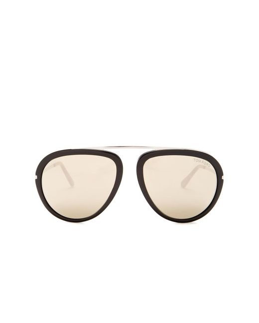 Tom Ford - Multicolor Stacy 57mm Aviator Sunglasses - Lyst