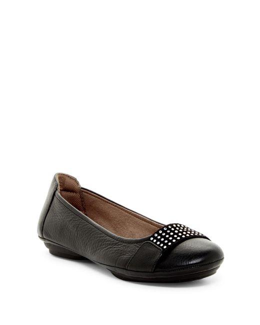 Comfortiva   Black Sallis Jewel Embellished Flat - Wide Width Available   Lyst