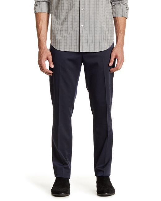 "Perry Ellis | Blue Ultra Slim Solid Techno Pant - 30-34"" Inseam for Men 