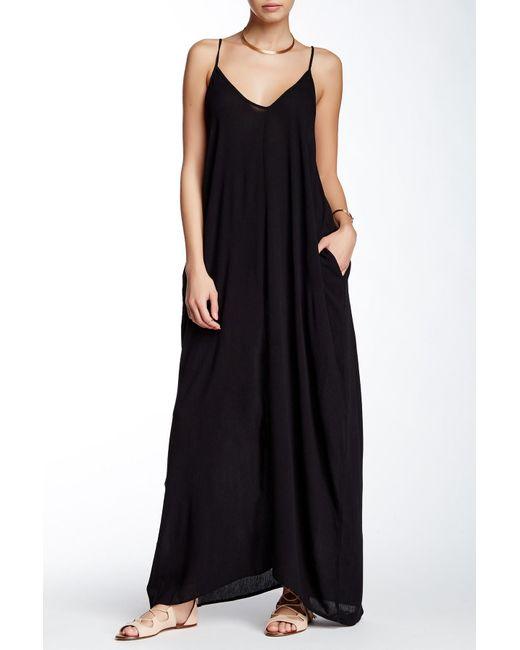 16b771e3927 Love Stitch - Black Gauze Maxi Dress - Lyst ...