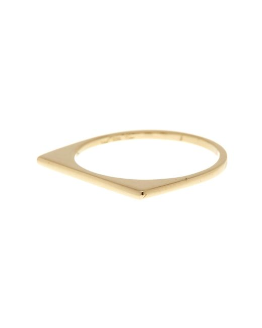 Bony Levy | Metallic 14k Yellow Gold Stackable Bar Ring | Lyst