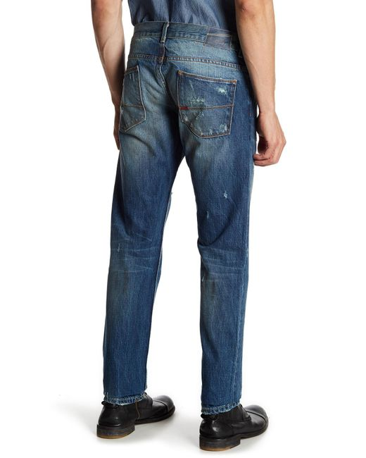 "Morrison Distressed Slim Fit Jeans - 32-34"" Inseam"