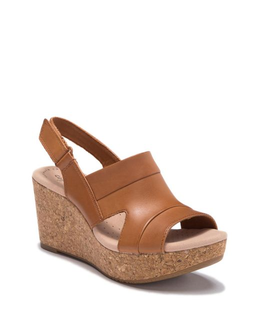 2104e58cf04f Clarks - Brown Annadel Ivory Wedge Sandal - Wide Width Available - Lyst ...