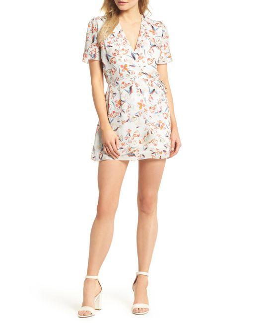 Adelyn Rae - Multicolor Tiffany Wrap Style Romper - Lyst