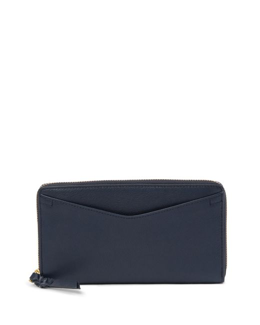 Fossil - Blue Caroline Zip Leather Wallet - Rfid Protection - Lyst