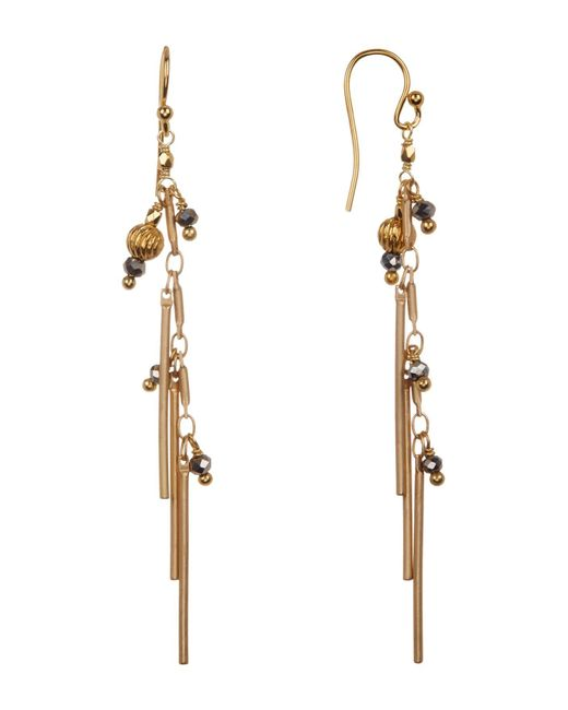 Chan Luu - Metallic Tassel Drop Bead Earrings - Lyst