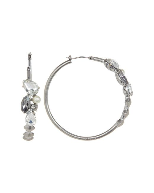 Marc Jacobs - Metallic Strass Crystal Embellished 25mm Hoop Earrings - Lyst