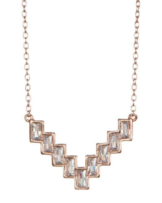Shashi - Metallic 18k Rose Gold Vermeil Valerie Bezel Set Staggered Pendant Necklace - Lyst