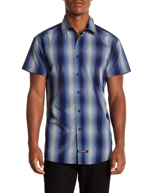 English Laundry - Blue Plaid Ombre Woven Regular Fit Shirt for Men - Lyst