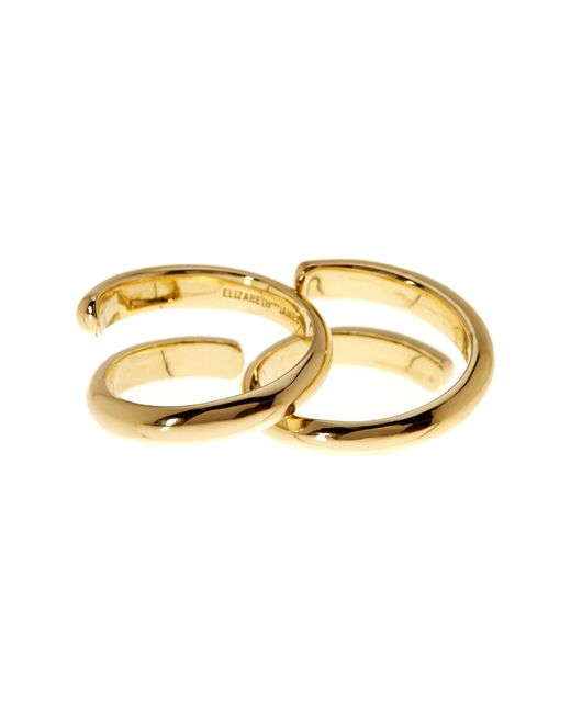 Elizabeth and James | Metallic Leda Ring | Lyst