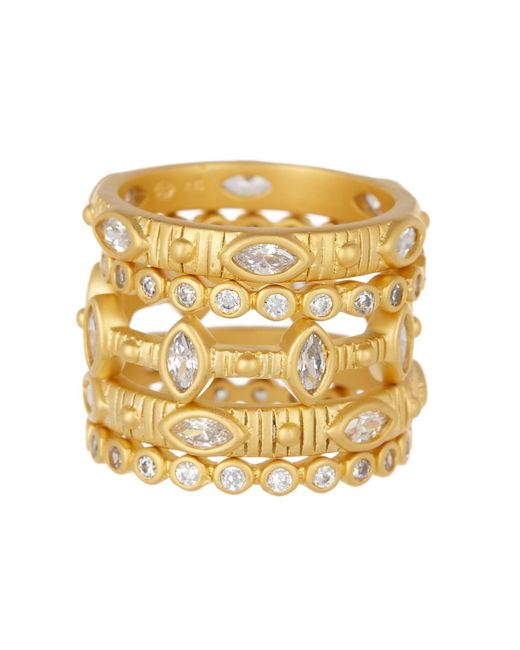 Freida Rothman Amazonian Allure Stack Rings, Set of 3 - Size 8