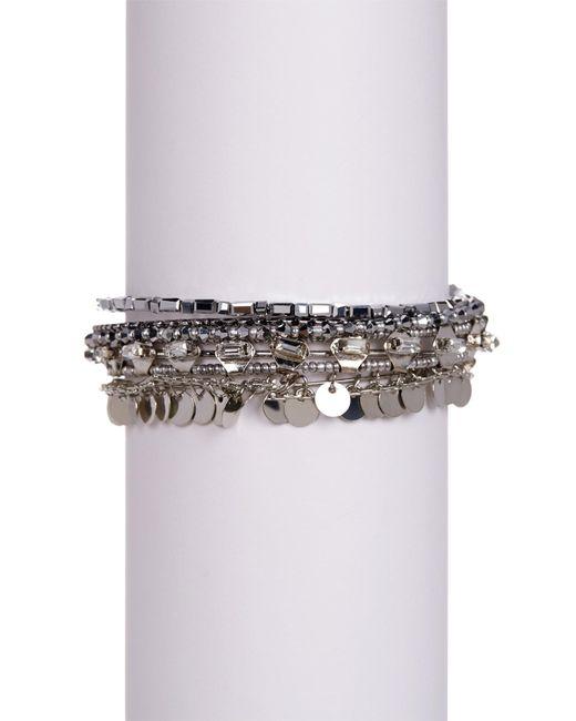 c.A.K.e. By Ali Khan | Metallic Assorted Silver Accent Bracelets | Lyst
